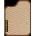 Цвет коврика: Бежевый Цвет окантовки:  Коричневый
