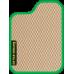 Цвет коврика: Бежевый Цвет окантовки:  Зелёный