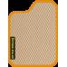 Цвет коврика: Бежевый Цвет окантовки:  Оранжевый