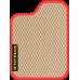 Цвет коврика: Бежевый Цвет окантовки:  Красный