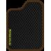 Цвет коврика: Чёрный Цвет окантовки:  Коричневый
