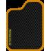 Цвет коврика: Чёрный Цвет окантовки:  Оранжевый