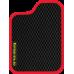 Цвет коврика: Чёрный Цвет окантовки:  Красный