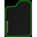 Цвет коврика: Чёрный Цвет окантовки:  Зелёный
