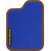 Цвет коврика: Синий Цвет окантовки:  Коричневый