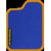 Цвет коврика: Синий Цвет окантовки:  Оранжевый