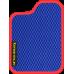 Цвет коврика: Синий Цвет окантовки:  Красный