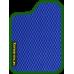Цвет коврика: Синий Цвет окантовки:  Зелёный