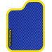 Цвет коврика: Синий Цвет окантовки:  Жёлтый