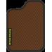 Цвет коврика: Коричневый Цвет окантовки:  Чёрный