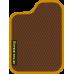 Цвет коврика: Коричневый Цвет окантовки:  Оранжевый