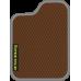 Цвет коврика: Коричневый Цвет окантовки:  Светло-серый