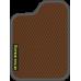 Цвет коврика: Коричневый Цвет окантовки:  Тёмно-серый