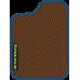 Цвет коврика: Коричневый Цвет окантовки:  Синий