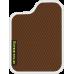 Цвет коврика: Коричневый Цвет окантовки: Белый