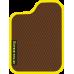 Цвет коврика: Коричневый Цвет окантовки:  Жёлтый