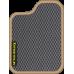 Цвет коврика: Серый Цвет окантовки:  Бежевый