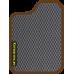 Цвет коврика: Серый Цвет окантовки:  Коричневый