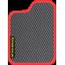 Цвет коврика: Серый Цвет окантовки:  Красный