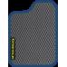 Цвет коврика: Серый Цвет окантовки:  Синий