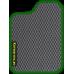 Цвет коврика: Серый Цвет окантовки:  Зелёный