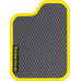 Цвет коврика: Серый Цвет окантовки:  Жёлтый