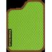 Цвет коврика: Салатовый Цвет окантовки:  Коричневый