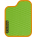 Цвет коврика: Салатовый Цвет окантовки:  Оранжевый