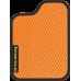 Цвет коврика: Оранжевый Цвет окантовки:  Чёрный