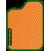 Цвет коврика: Оранжевый Цвет окантовки:  Зелёный