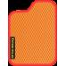 Цвет коврика: Оранжевый Цвет окантовки:  Красный