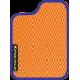 Цвет коврика: Оранжевый Цвет окантовки: Сиреневый