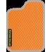 Цвет коврика: Оранжевый Цвет окантовки:  Светло-серый