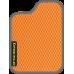 Цвет коврика: Оранжевый Цвет окантовки:  Тёмно-серый