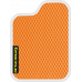 Цвет коврика: Оранжевый Цвет окантовки: Белый