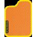 Цвет коврика: Оранжевый Цвет окантовки:  Жёлтый