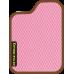 Цвет коврика: Розовый Цвет окантовки:  Коричневый