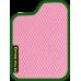 Цвет коврика: Розовый Цвет окантовки:  Зелёный