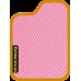 Цвет коврика: Розовый Цвет окантовки:  Оранжевый