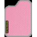 Цвет коврика: Розовый Цвет окантовки:  Светло-серый