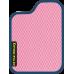 Цвет коврика: Розовый Цвет окантовки:  Синий