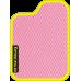Цвет коврика: Розовый Цвет окантовки:  Жёлтый