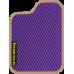Цвет коврика: Фиолетовый Цвет окантовки:  Бежевый