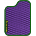 Цвет коврика: Фиолетовый Цвет окантовки:  Зелёный