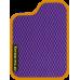 Цвет коврика: Фиолетовый Цвет окантовки:  Оранжевый