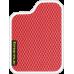 Цвет коврика: Красный Цвет окантовки: Белый
