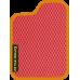Цвет коврика: Красный Цвет окантовки:  Оранжевый