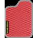Цвет коврика: Красный Цвет окантовки:  Светло-серый