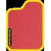 Цвет коврика: Красный Цвет окантовки:  Жёлтый