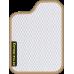 Цвет коврика: Белый Цвет окантовки:  Бежевый